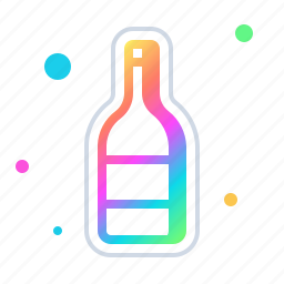 alcohol, bottle, champagne, cocktail, drink, wine icon