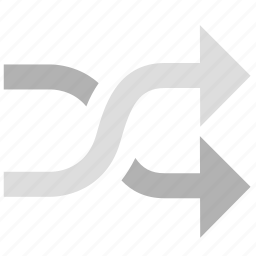 play, random, sort icon