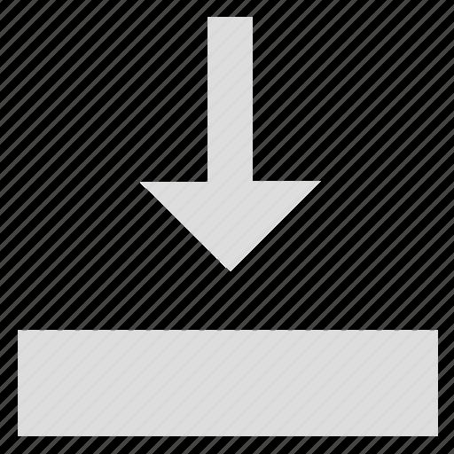 adjustment, arrow, bottom, download, resize, size, stretch icon