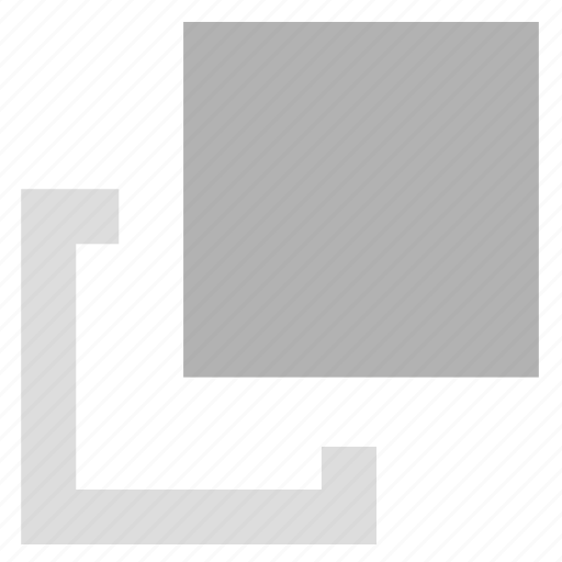back, front, layer, sort icon