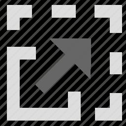 adjustment, resize, size, stretch icon