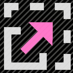 adjustment, resize, size icon