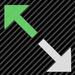 adjustment, resize, size, stretch, toolbar, windows icon