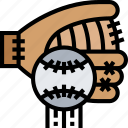 basketball, glove, catcher, pitcher, equipment icon