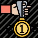 medal, winner, award, champion, success