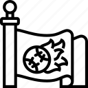 team, flag, banner, sport, symbol