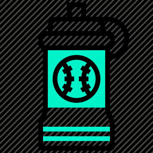 baseball, bottle, sport, water icon