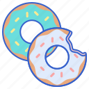 cooking, doughnuts, food, restaurant icon