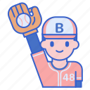 ball, fielder, game, play icon