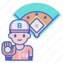 ball, game, infielder, play icon