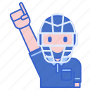 man, people, profile, umpire icon