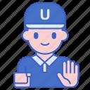 boy, person, profile, umpire icon