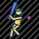baseball, batter, player icon