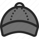 baseball, baseball hat, clothing, hat icon