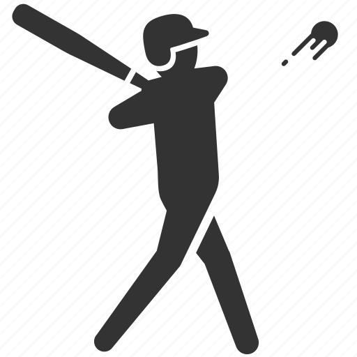 baseball, batting, hitter, hitting, player, sport, swing icon