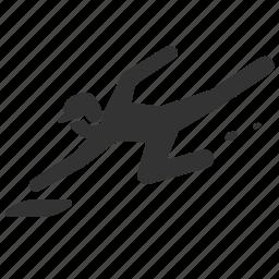 baseball, leap, play, player, runner, soar, sport icon