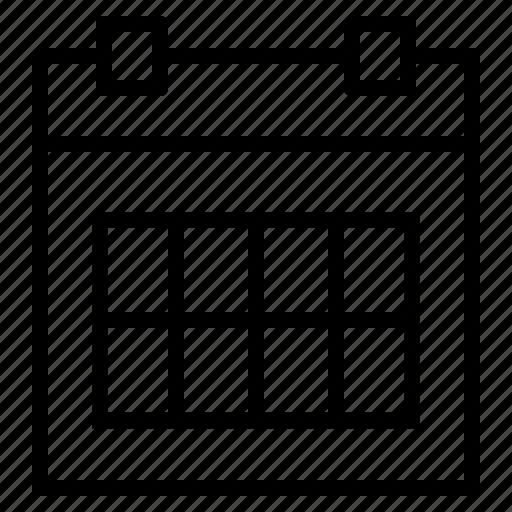 calendar, date, event, month, monthly calendar, remindar, schedule icon