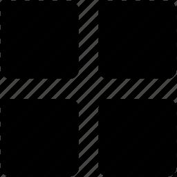 gallery, grid, list icon