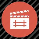 board, cinema, clapper, film, movie icon