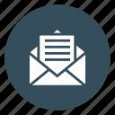 envelope, inbox, mail, message, open icon