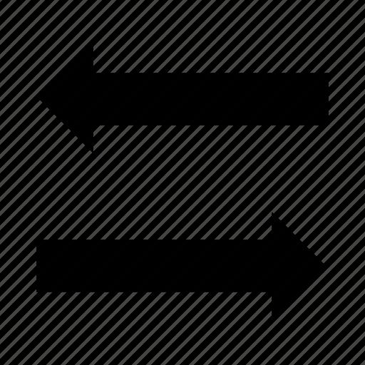 arrows, direction, exchange, pointer, transfer icon