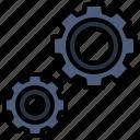 cogwheel, configuration, gear, seo, settings icon