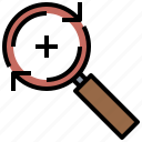 detective, glass, loupe, search, zoom