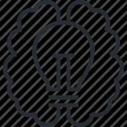 brainstorming, creativity, development, idea, innovation, pixel icon, thin line icon