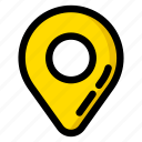 gps, map, pointer, travel icon