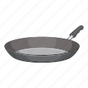 cartoon, cooking, dinner, frying, kitchenware, pan, utensil icon