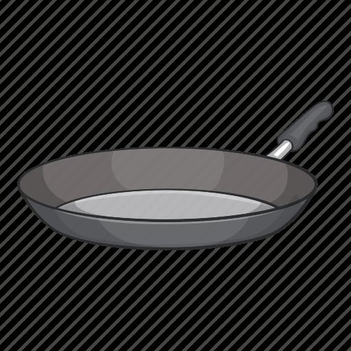 cartoon, cooking, dinner, frying, kitchenware, pan, utensil icon