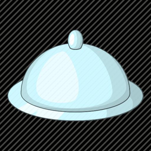 cartoon, dinner, food, lid, restaurant, tray, waiter icon