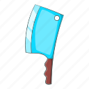 axe, blade, cartoon, equipment, handle, kitchen, tool icon