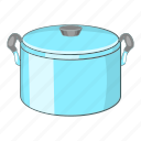 cartoon, cook, cooking, food, kitchen, lid, pot icon