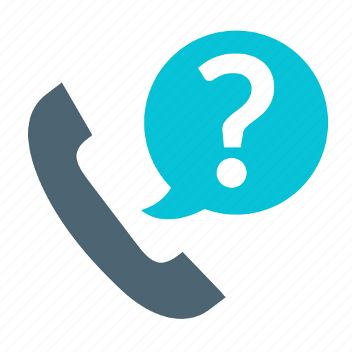 basic, business, call, ecommerce, help, phone, question icon