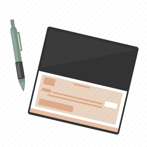 basic, business, check, ecommerce, method, payment, pen icon
