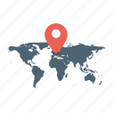address, basic, business, ecommerce, location, map, world map icon