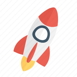 basic, business, ecommerce, launch, rocket, spaceship icon