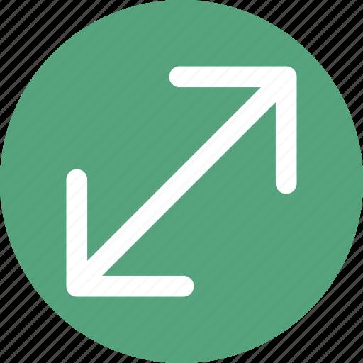 arrow, direction, double icon