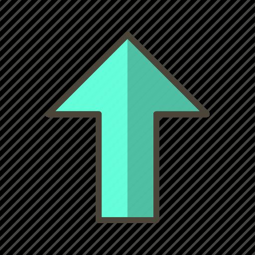 arrow, basic elements, direction, up, upload icon