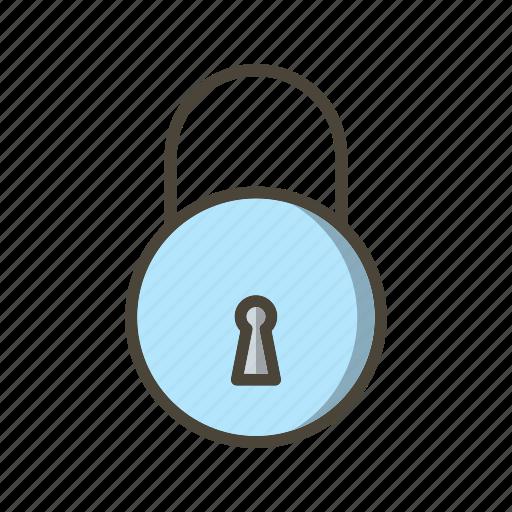 basic elements, lock, locked, safe, secure icon