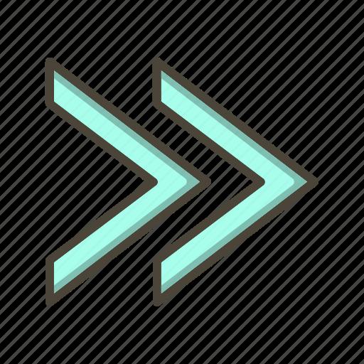 arrows, direction, forward, next icon