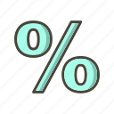 %, discount, percent, percentage icon