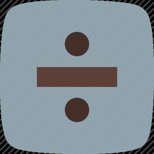 divide, divider, math, split icon