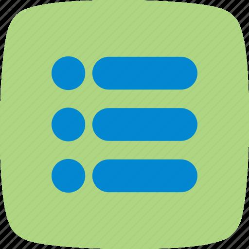 alert, list, notification icon