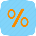 %, basic elements, discount, percent, percentage icon
