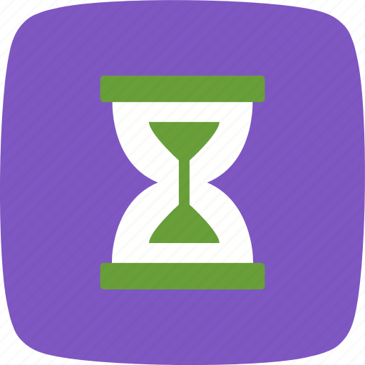 hourglass, loading, wait icon