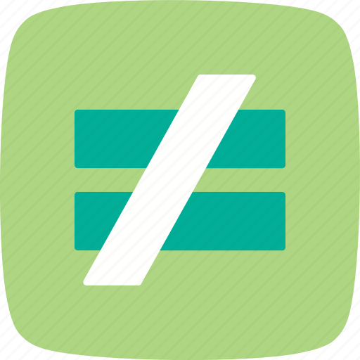 Not a answer, not equal, basic elements icon - Download on Iconfinder