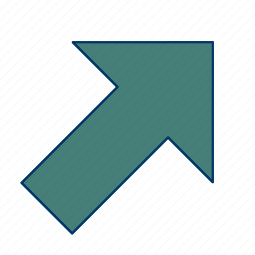 arrow, direction, right up icon