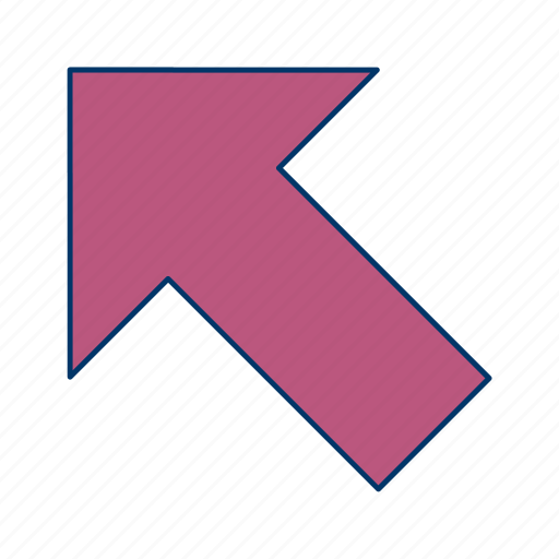 arrow, direction, left up icon